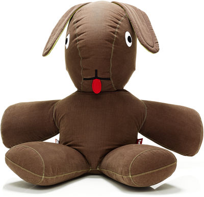 Furniture - Kids Furniture - CO9 XXL Pouf - Giant rabbit W 500 cm by Fatboy - Brown - Lime ears - Cotton