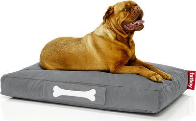 Pouf Doggielounge Stonewashed /Large - Fatboy L 120 cm x l 80 cm gris foncé en tissu