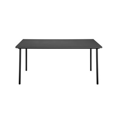 Outdoor - Garden Tables - Patio Rectangular table - / Stainless steel - 160 x 100cm by Tolix - Black - Stainless steel