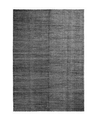 Decoration - Rugs - Moiré Kelim Medium Rug - / 170 x 240 cm - Hand-woven by Hay - Black - Wool