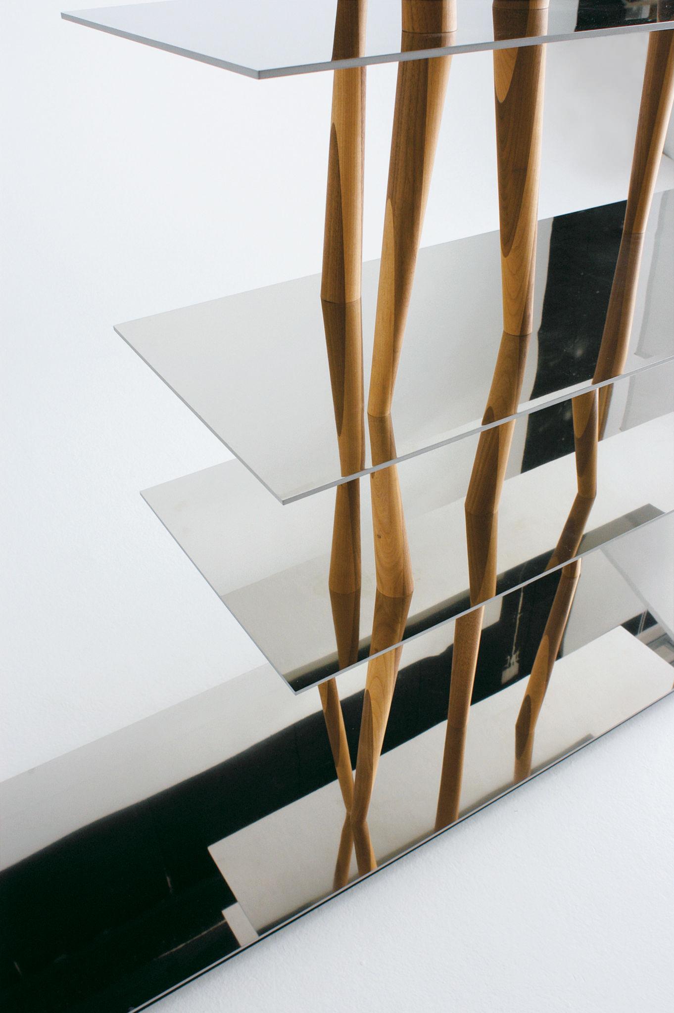 NaturalemetalloMade Horm Sendai Di Design In Scaffale Legno CEQeBoWrdx