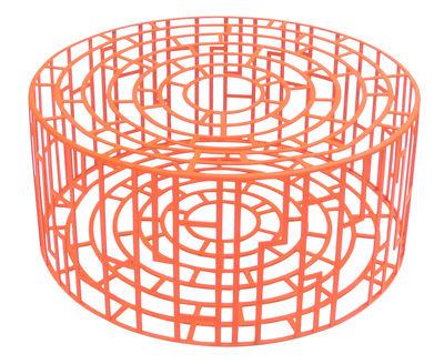 Möbel - Couchtische - Kub Sitzkissen Ø 65 cm x H 28 cm - Moroso - Rot - gefirnister Stahl