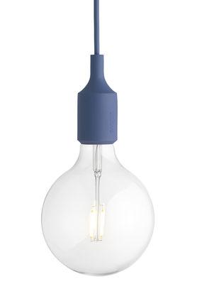 Illuminazione - Lampadari - Sospensione E27 di Muuto - Blu tenue - Silicone