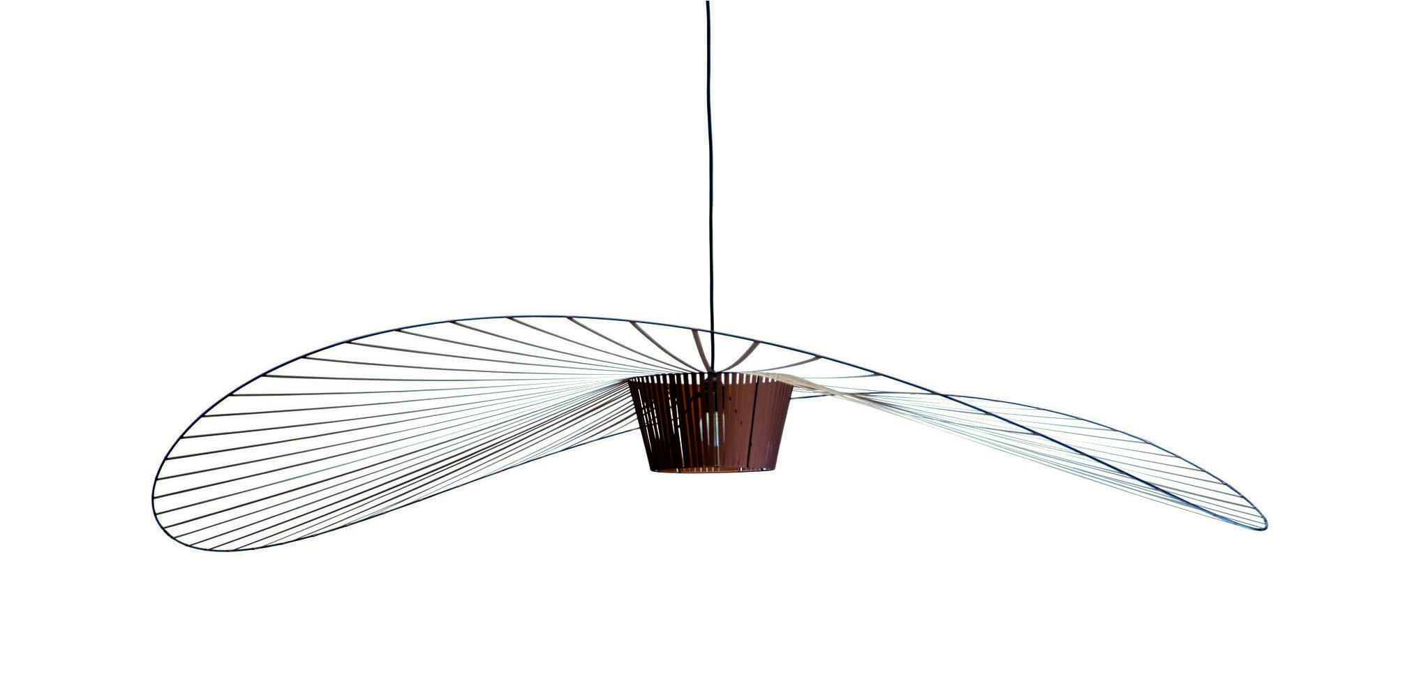 Illuminazione - Lampadari - Sospensione Vertigo - small Ø 140 cm di Petite Friture - Cuoio - Fibra di vetro, Poliuretano