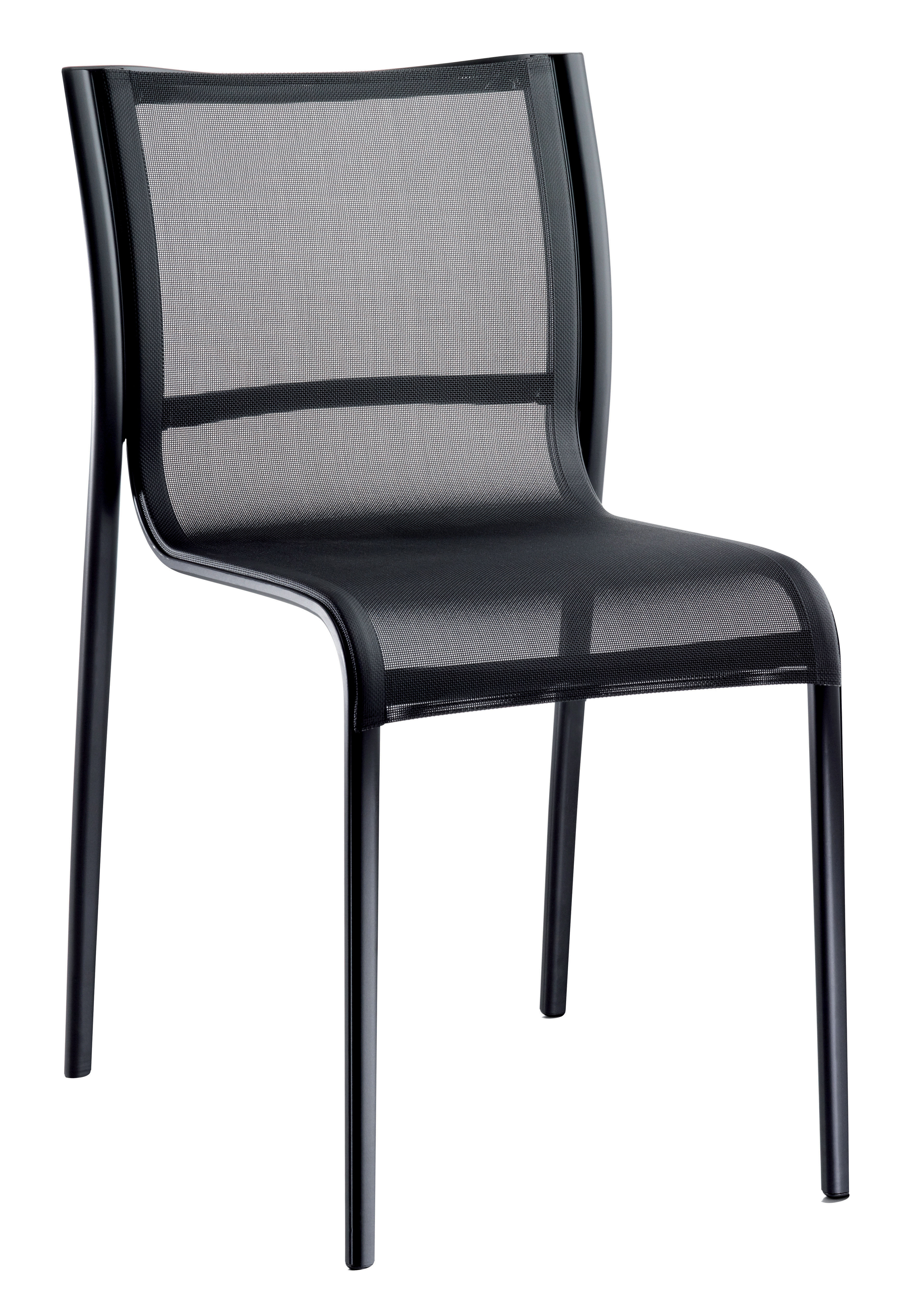Furniture - Chairs - Paso Doble Stacking chair - Fabric by Magis - Black - Cloth, Varnished aluminium