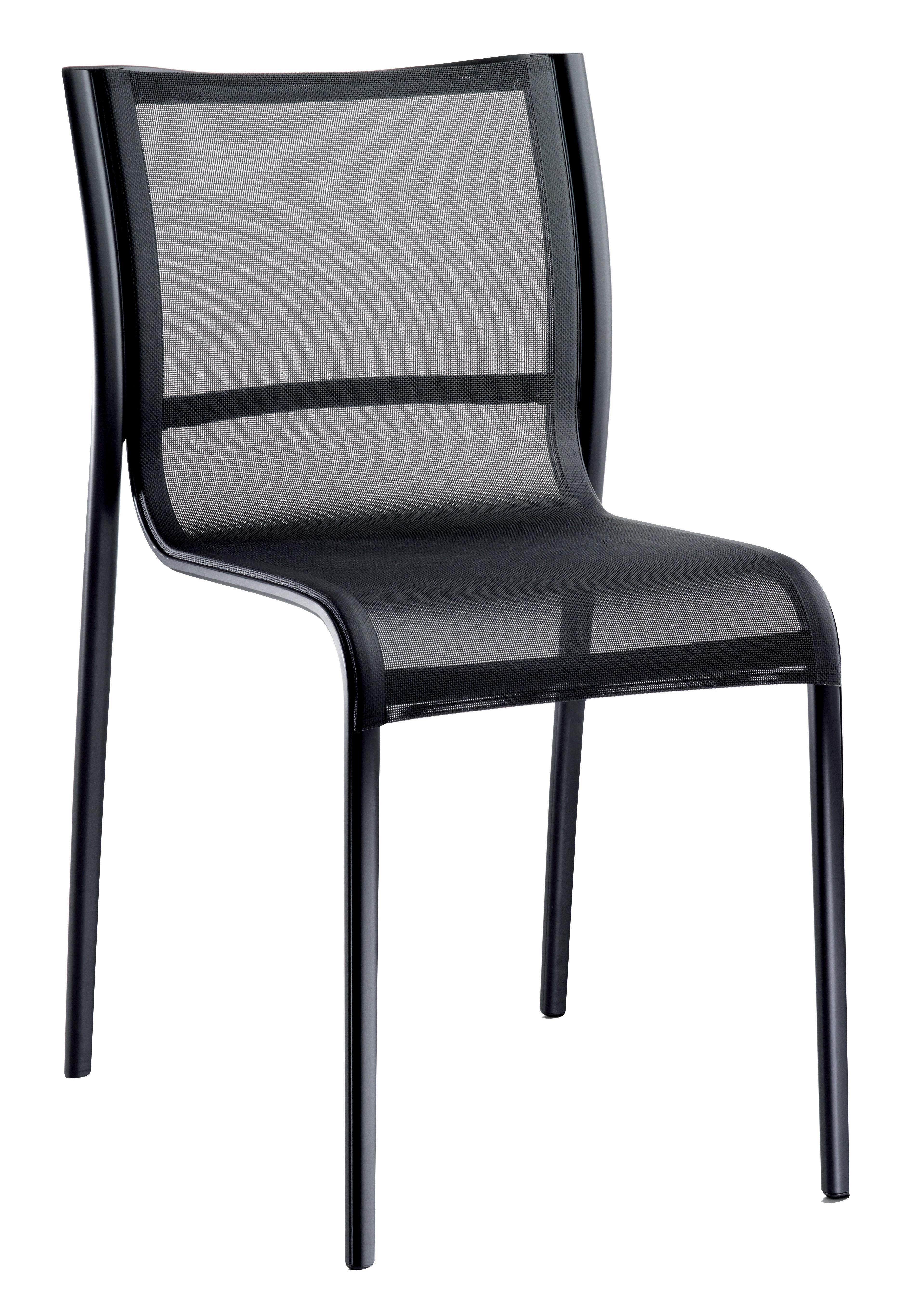 Möbel - Stühle  - Paso Doble Stapelbarer Stuhl - Magis - Schwarz / Gestell schwarz - klarlackbeschichtetes Aluminium, Leinen