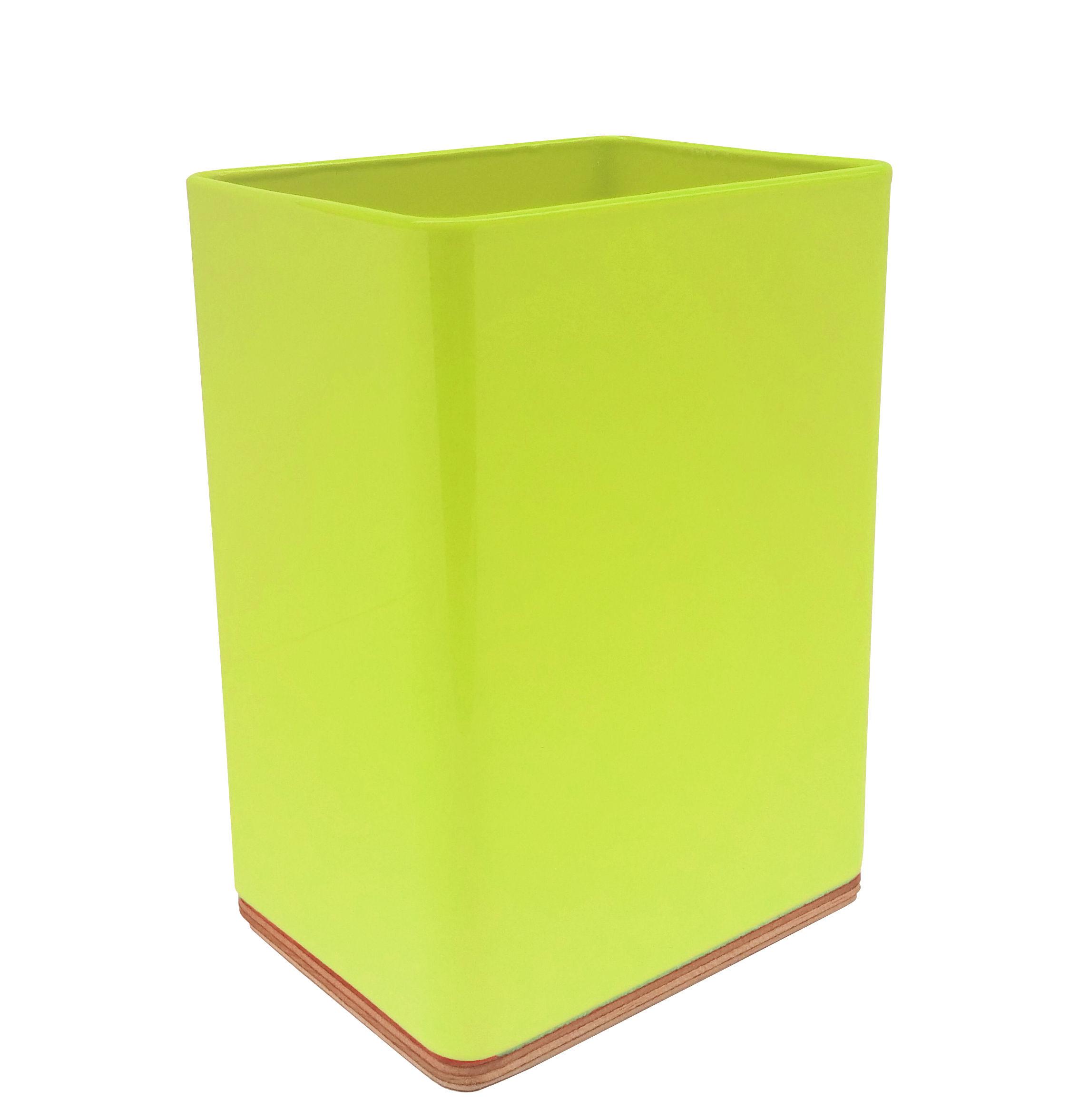Accessoires - Accessoires für das Büro - Portable Atelier Stifthalter / Moleskine - hoch - Driade - Neon-gelb - Birkenholzfurnier, lackierter Stahl