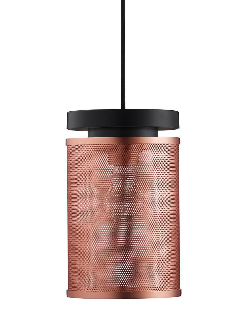 Luminaire - Suspensions - Suspension Casper / Métal perforé - Frandsen - Cuivre brossé - Métal, Métal perforé
