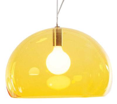 Suspension FL/Y / Ø 52 cm - Kartell jaune en matière plastique