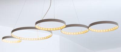 Suspension Super8 / LED - 100 x 50 cm - Le Deun blanc en métal