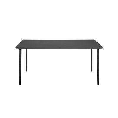 Jardin - Tables de jardin - Table rectangulaire Patio / Inox - 160 x 100 cm - Tolix - Noir - Acier inoxydable