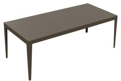 Mobilier - Tables - Table rectangulaire Zef INDOOR / 220 x 100 cm - Acier - Matière Grise - Taupe - Acier peint époxy