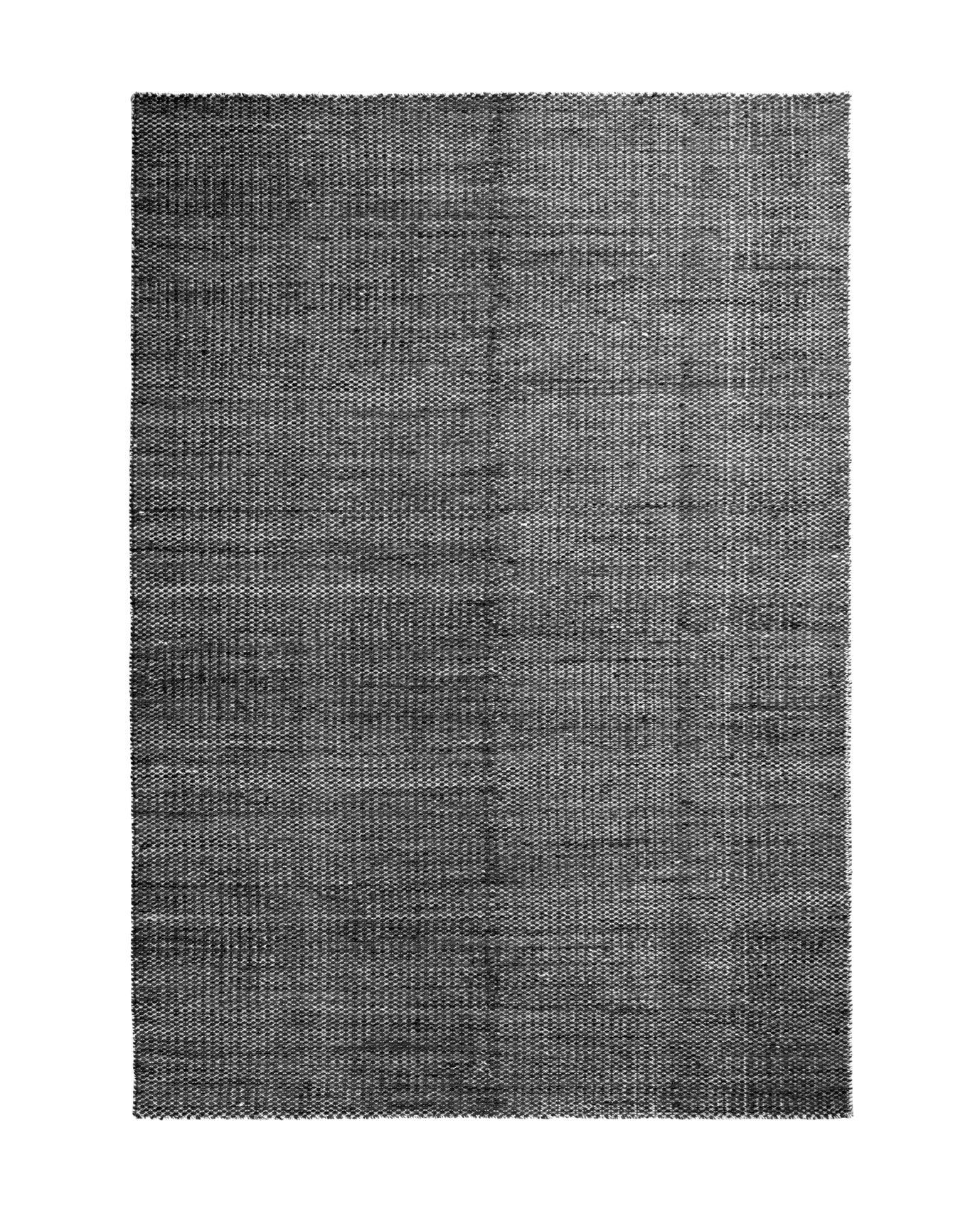 Interni - Tappeti - Tappeto Moiré Kelim Medium - / 170 x 240 cm - Tessuto a mano di Hay - Nero - Lana