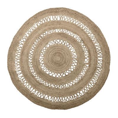 Interni - Tappeti - Tappeto per esterno - / Iuta - Ø 180 cm di Bloomingville - Iuta naturale - Jute naturelle