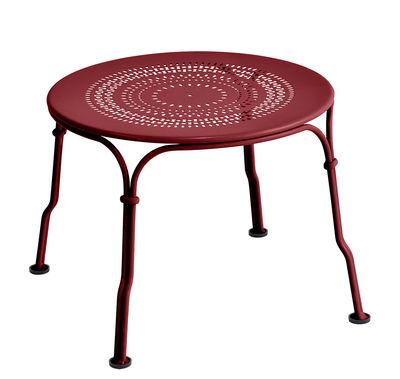 Arredamento - Tavolini  - Tavolino basso 1900 / Ø 45 cm - Fermob - Peperoncino - Acciaio verniciato