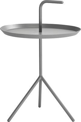 Arredamento - Tavolini  - Tavolino Don't leave Me XL - / Ø 48 x H 49 cm di Hay - Grigio - Acciaio laccato