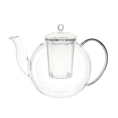 Tableware - Tea & Coffee Accessories - Armonia Teapot - / 1.2 L - Integrated filter by Leonardo - Transparent - Borosilicated glass