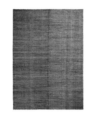 Moiré Kelim Medium Teppich / 170 x 240 cm - handgewebt - Hay - Schwarz