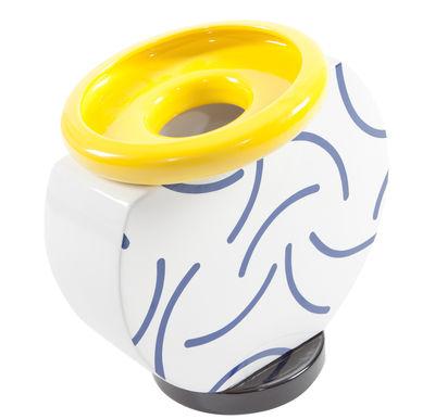 Dekoration - Vasen - Cucumber Vase von Martine Bedin / 1985 - Memphis Milano - Gelb, blau & weiß - Keramik