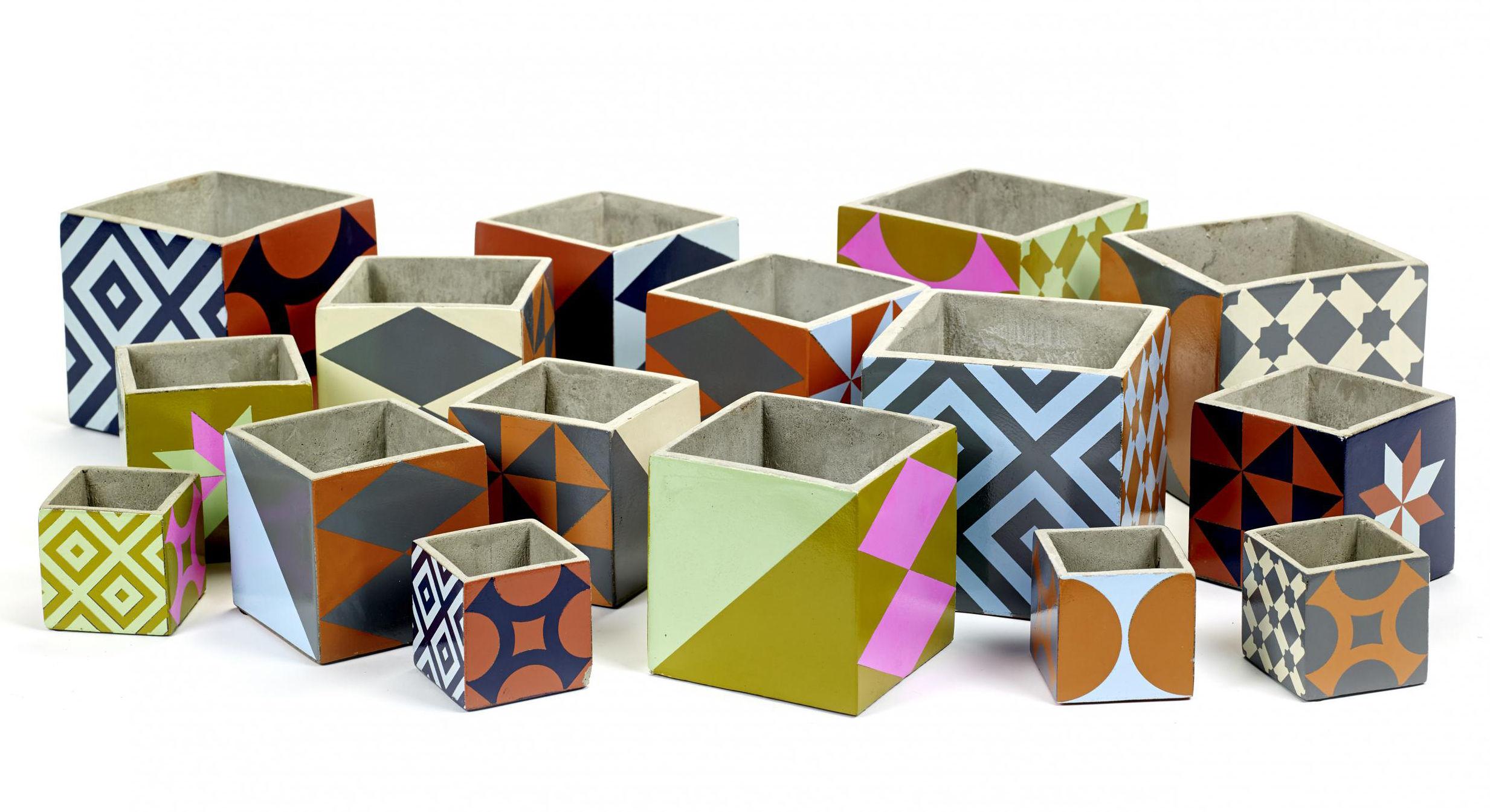 Piastrelle Di Cemento Colorato : Marie small vaso set da piastrelle di cemento small