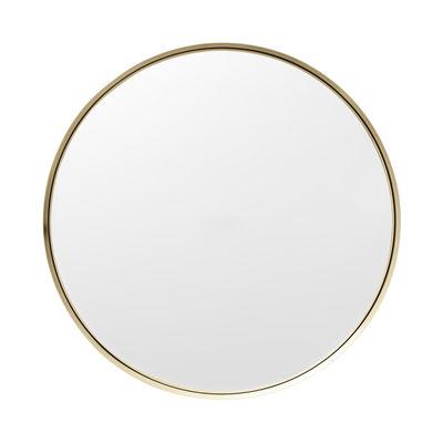 Decoration - Mirrors - Darkly Medium Wall mirror - Brass / Ø 40 cm by Menu - Brass - Brass, Glass