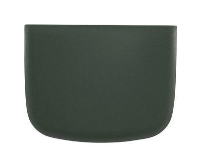 Accessories - Desk & Office Accessories - Pocket 2 Wall storage - H 10 cm by Normann Copenhagen - Dark green - Polypropylene
