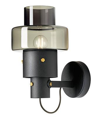 Applique Gask / Verre & métal - Diesel with Foscarini gris,noir en métal