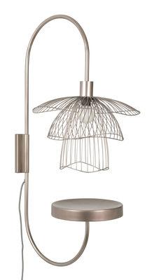 Luminaire - Appliques - Applique Papillon / H 75 cm - Tablette - Forestier - Cuivre rosé - Acier thermolaqué