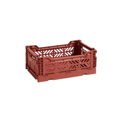 Decoration - Children's Home Accessories - Colour Crate Basket - Small 26 x 17 cm by Hay - Terracotta - Polypropylene
