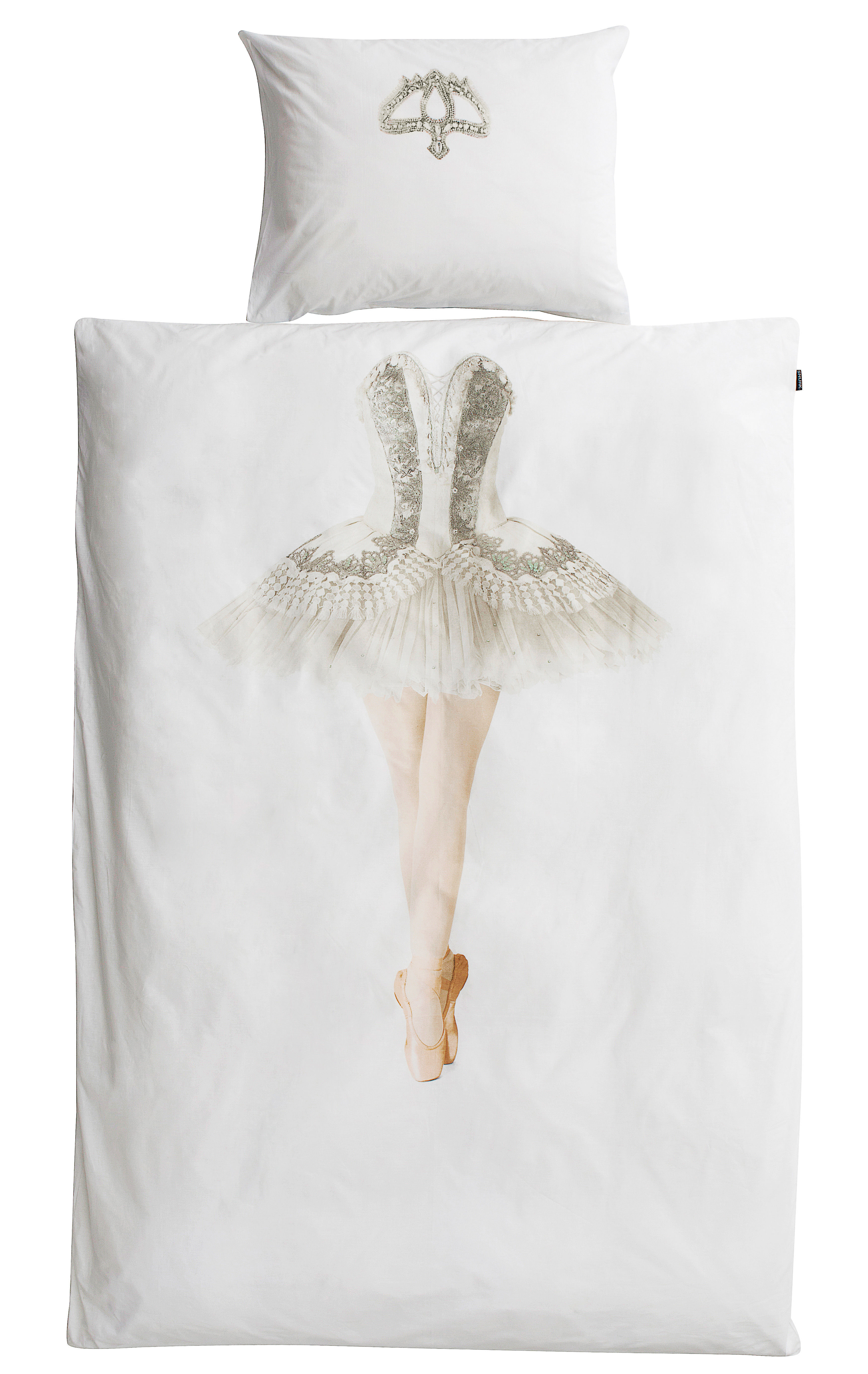 Decoration - Bedding & Bath Towels - Ballerina Bedlinen set for 1 person - 135 x 200 cm by Snurk - Ballerina - Cotton percale