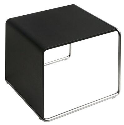Möbel - Couchtische - Ueno Beistelltisch - Lapalma - Schwarz gemasert - Eiche, mattierter rostfreier Stahl