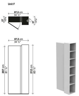 Bibliothèque Blio /Élément F - Kristalia laqué blanc en matière plastique