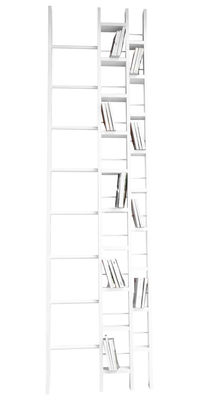 Mobilier - Etagères & bibliothèques - Bibliothèque Hô / L 64 x H 240 cm - La Corbeille - Blanc - Hêtre massif laqué