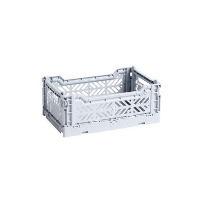 Image of Cestino Colour Crate - Small / 26 x 17 cm di Hay - Blu/Grigio - Materiale plastico
