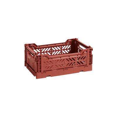 Interni - Per bambini - Cestino Colour Crate - Small / 26 x 17 cm di Hay - Terracotta - Polipropilene