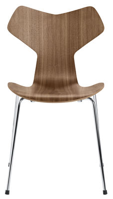 Chaise empilable Grand Prix / Bois naturel - Fritz Hansen noyer naturel en bois