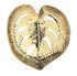 Corbeille Leaf Large / Porcelaine - 36 x 35 cm - & klevering
