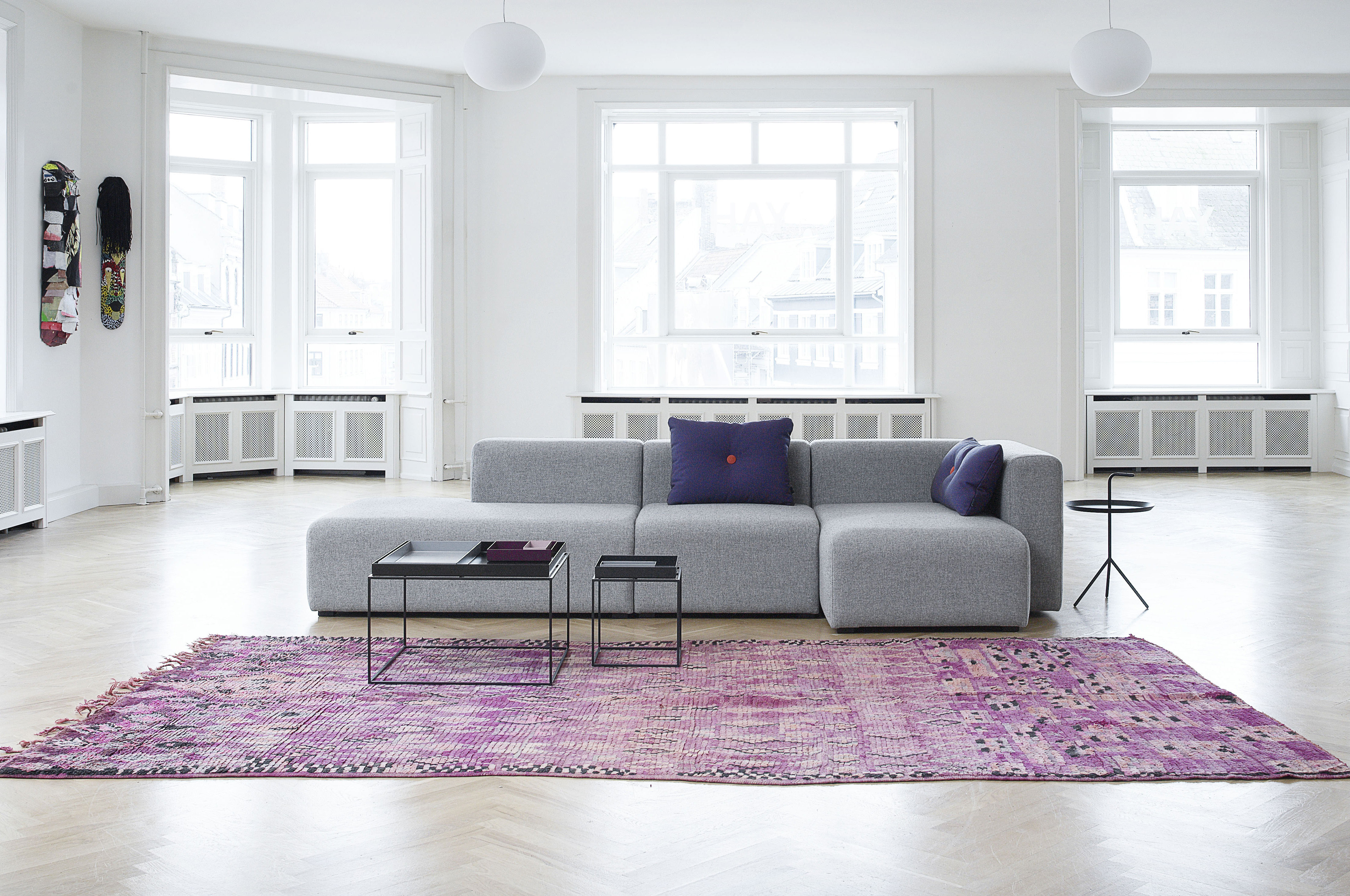 corner sofa mags by hay grey made in design uk. Black Bedroom Furniture Sets. Home Design Ideas