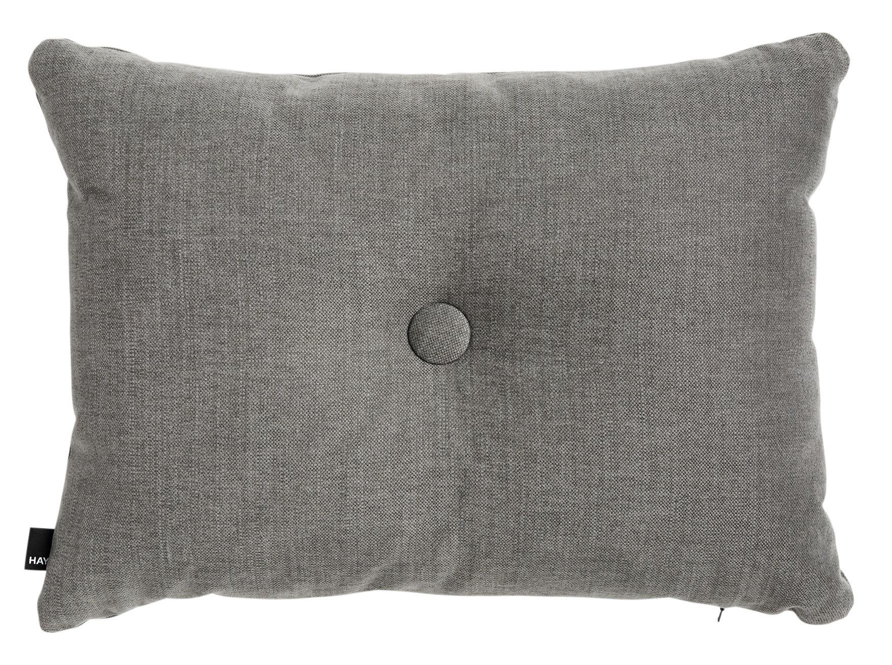 Decoration - Cushions & Poufs - Dot Tint Cushion - / 60 x 45 cm by Hay - Dark grey - Cotton, Linen