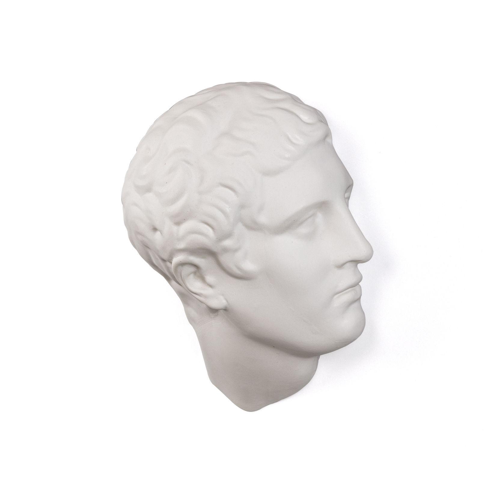 Interni - Oggetti déco - Decorazione Memorabilia Mvsevm - / Testa uomo - H 37 cm di Seletti - Testa uomo / Bianco - Porcellana