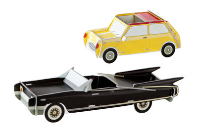 Decoration - Children's Home Accessories - Play! Figurine - Cool Cars 2 / Carboard by studio ROOF - Cars / Yellow & black - Recycled cardboard