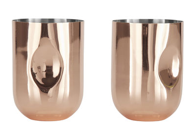 Tableware - Wine Glasses & Glassware - Plum Moscow Mule Glass - Set of 2 by Tom Dixon - Copper - Copper platted steel