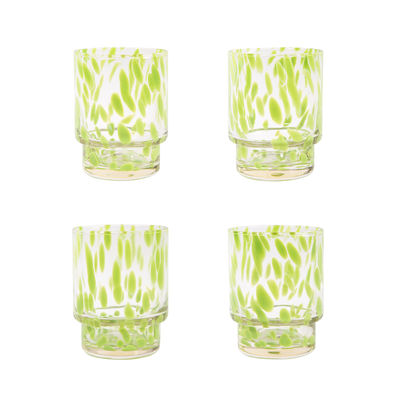 Tableware - Wine Glasses & Glassware - Tortoise Glass - / Set of 4 by & klevering - Transparent & green - Blown glass