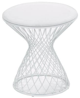 Möbel - Hocker - Heaven Hocker - Emu - Weiß - Polyacryl-Gewebe, Stahl