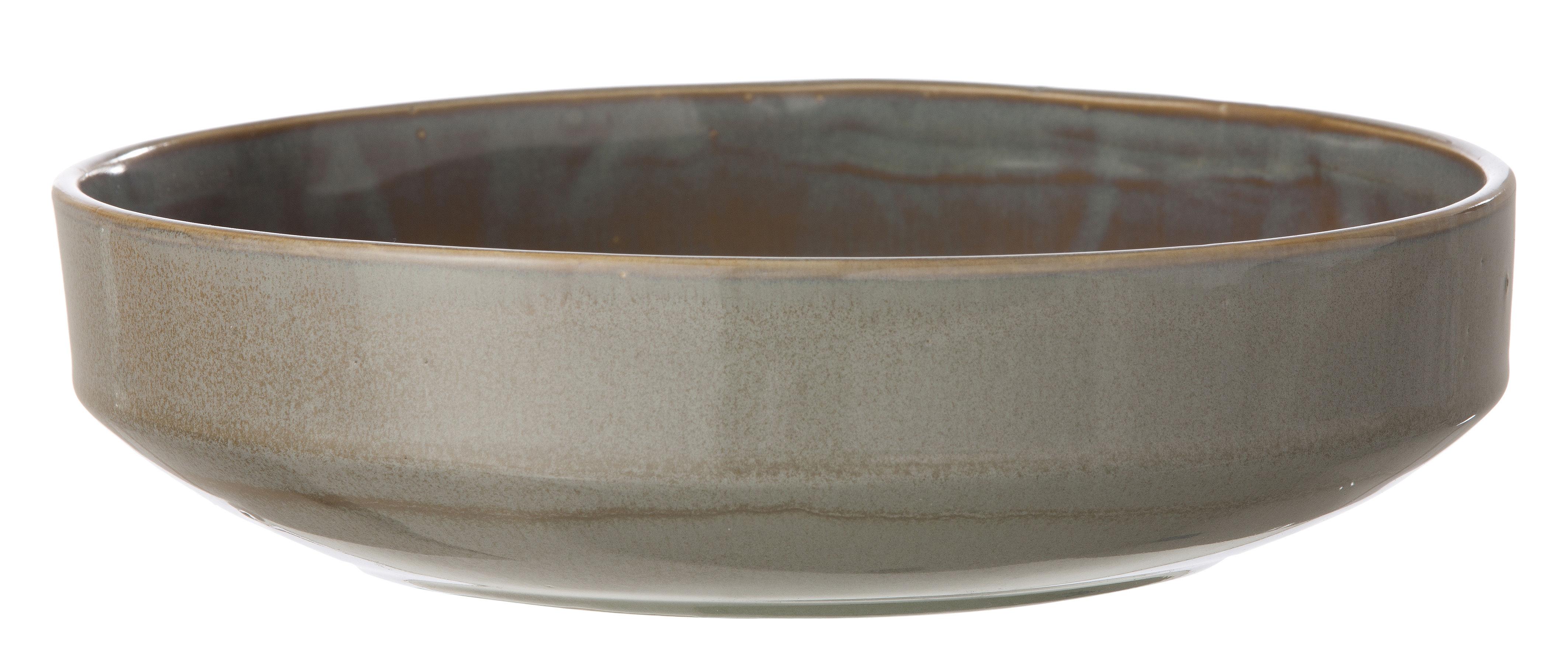 Tavola - Ciotole - Insalatiera Neu di Ferm Living - Grigio - Ceramica smaltata