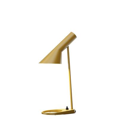 Luminaire - Lampes de table - Lampe de table AJ Mini (1960) / H 43 cm - Louis Poulsen - Jaune Ocre - Acier, Zinc