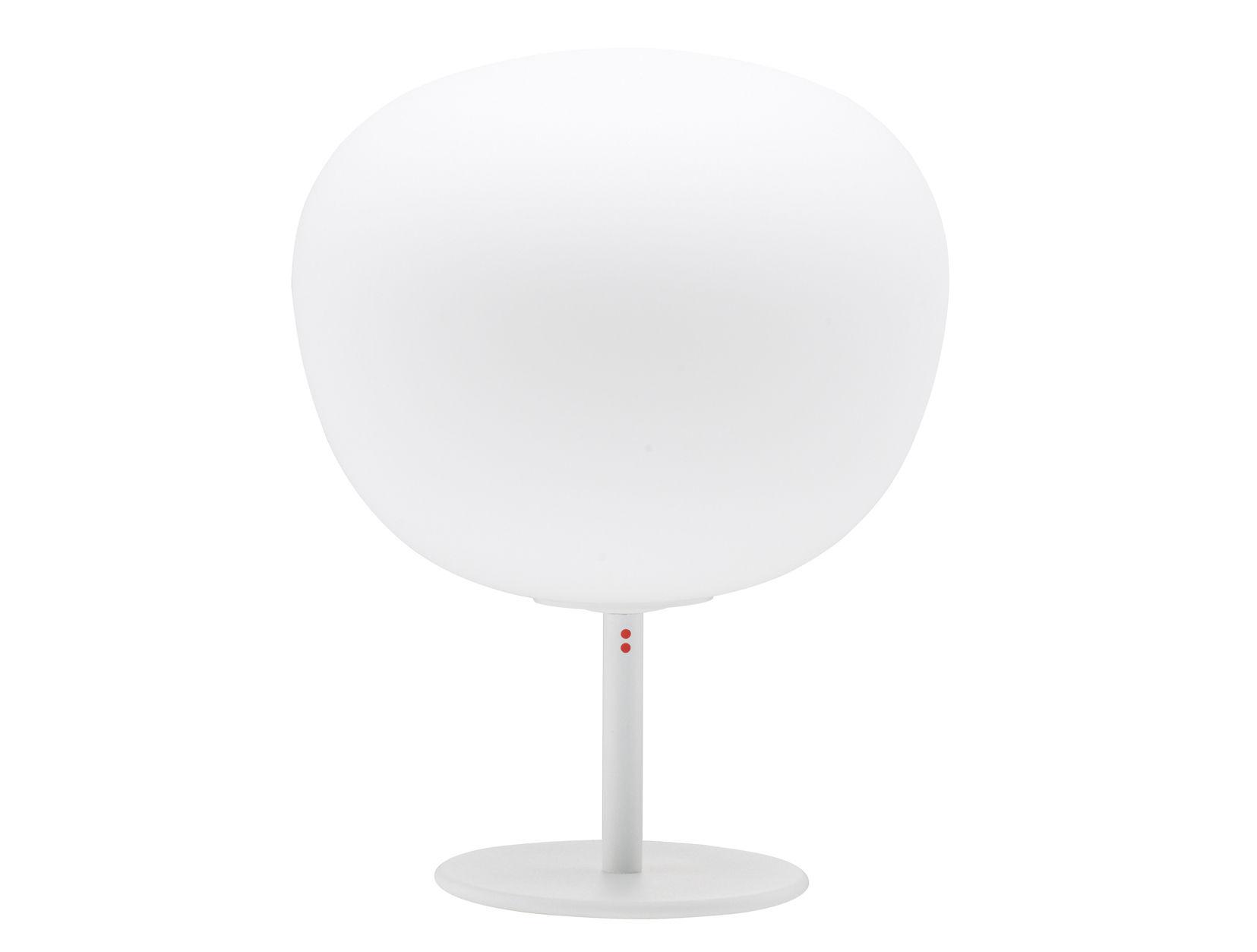 Luminaire - Lampes de table - Lampe de table Mochi avec pied - Ø 20 x H 26 cm - Fabbian - Blanc - Ø 20 cm - Pied - Verre