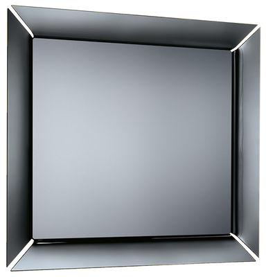 Miroir mural Caadre TV Téléviseur Ecran LCD 42 pouces Sony intégré 155 x 140 cm FIAM noir,titane en verre