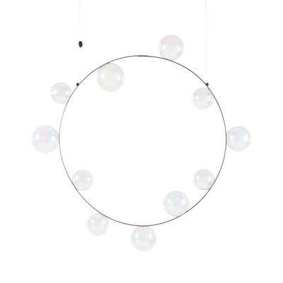 Leuchten - Pendelleuchten - Hubble Bubble 11 Pendelleuchte / LED - Ø 99 cm / Irisierendes Glas - Moooi - Irisierendes Glas (transparent ) - geblasenes Glas, Metall
