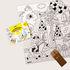 Poster da colorare Coloriage Pocket - Princesses & dragons - / 52 x 38 cm di OMY Design & Play